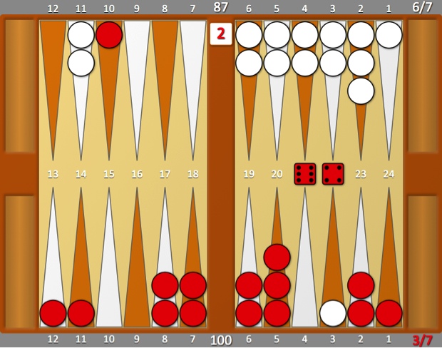 Chris Bray Backgammon Position 2