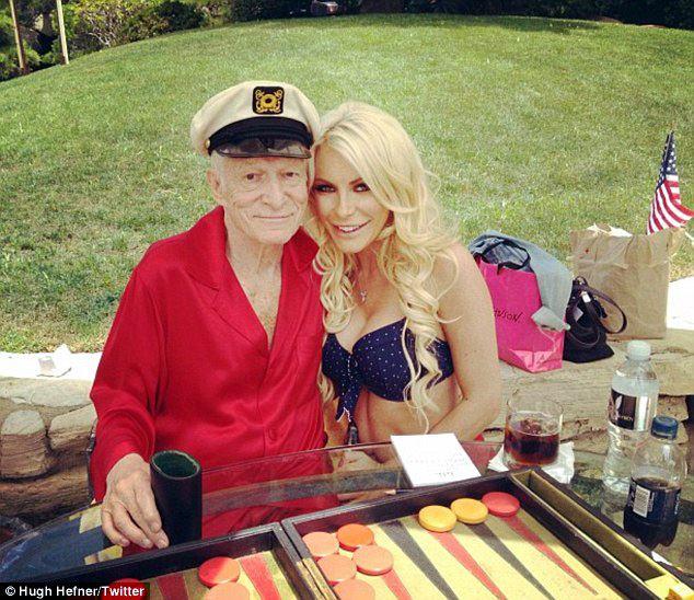 Hugh Hefner backgammon