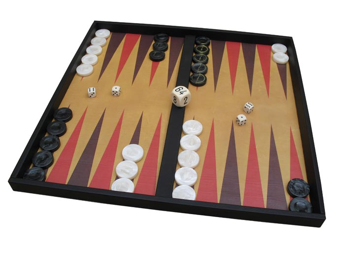 Roll-up backgammon board