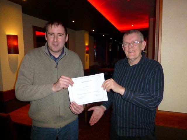 Bristol victor: Nick Barham with TD Ian Tarr