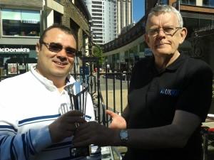 Alexe Marin, Bristol winner, with Ian Tarr